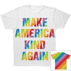 Colorful American All Over Print Tee Shirt