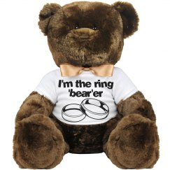 "Ring ""Bear""er Teddy Bear"