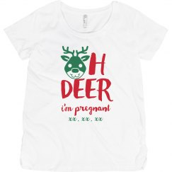 Oh Deer Custom Due Date Maternity