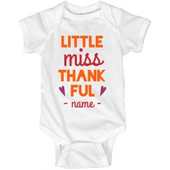 Little Miss Thankful Thanksgiving Onesie