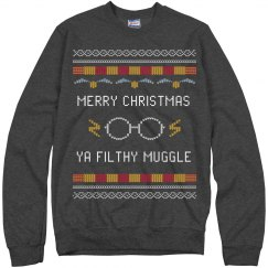 Merry Christmas Ya Filthy Muggle Ugly Sweater