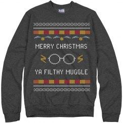 Merry Christmas Ya Filthy Muggle Ugly Sweater