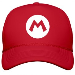 Red Plumber Costume Hat