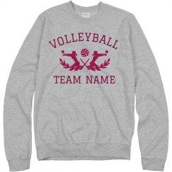 Custom School Team Volleyball Text
