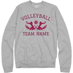 Custom School Team Volleyball Text