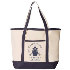 Custom Family Cruise Beach Totes