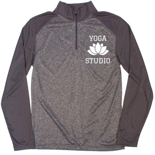 72832729 Custom Yoga Studio Pullovers Unisex Pro Heather Quarter-Zip Pullover  Sweatshirt