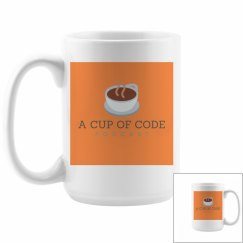 A Cup of Code Podcast Double-sided Logo 15 oz Mug