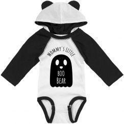 Custom Name Mommy's Little Boo Bear Halloween Onesie