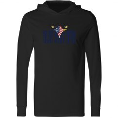 Unisex Performance Eagle Eyes USA with Hoodie