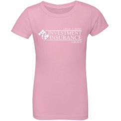 CAR Girls Ruffle Fine Jersey Tee light pink
