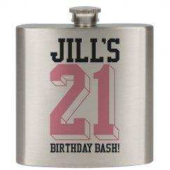 21 Birthday Bash Flask