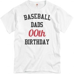 Customize baseball dad bday