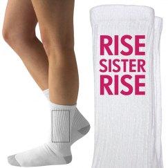 Rise Sister Rise Feminist Socks