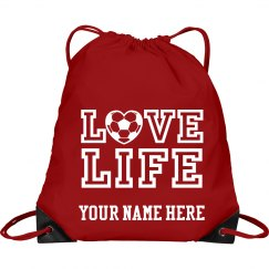 Love LIFE soccer bag