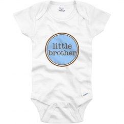 Little Brother Onesie Blue Brown