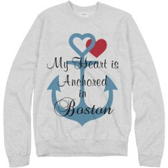 Heart anchored in Boston