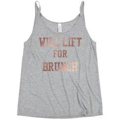 Will Lift For Brunch flowy tank
