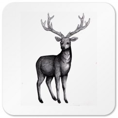 Deer sketch coaster