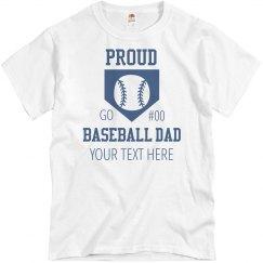Proud Baseball Diamond Dad