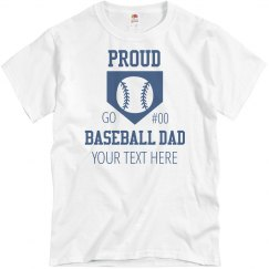 Proud Baseball Diamond Dad