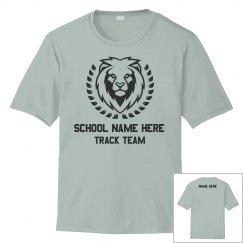 Custom School Track Running Tee