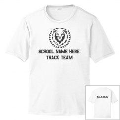 Custom School Track Running Tee