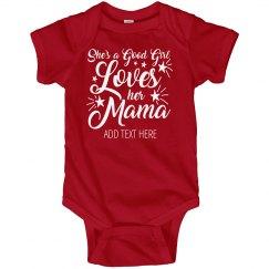 Stars Stripes Baby Loves Mama