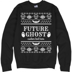 Ghost in the Making Funny Halloween Ugly Sweater