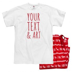 Your Text And Art Pajama Text