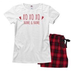 XOXO Valentine's Pajama Set