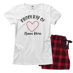 Valentine's Property Of Pajama Set