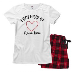 Valentine's Property Of Pajama Set