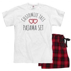 Custom Valentine's Day Pajamas