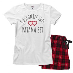 Custom Valentine's Day Pajamas