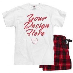 Personalized Design Valentine PJs