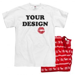 Your Text Valentine Custom Pajamas
