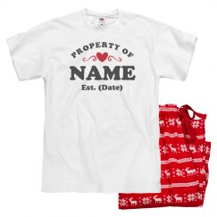Property Of Custom Vday Pajamas