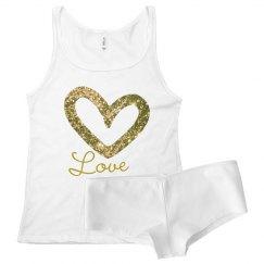 Gold Open Heart Love