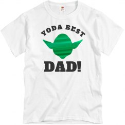 Metallic Yoda Best Dad