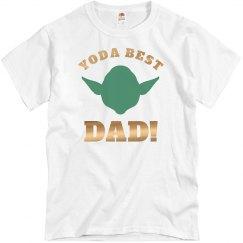 Metallic Yoda Best Dad