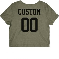 Custom Cropped Sports Name & Number