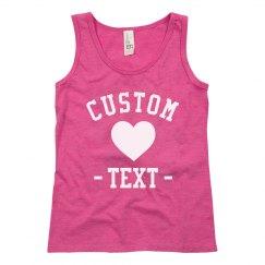Create your Custom Design Girls Tank