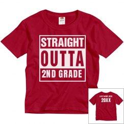 Custom Straight Outta 2nd Grade
