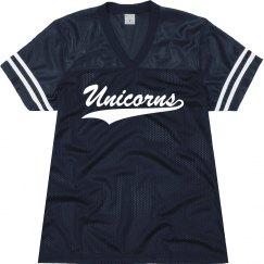 New Braunfels unicorns shirt.