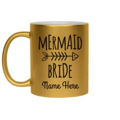 Metallic Mermaid Bride Mug