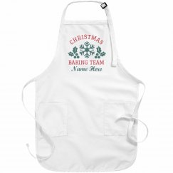 Custom Christmas Baking Team Aprons