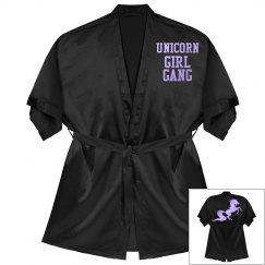 Unicorn competition robe - black satin