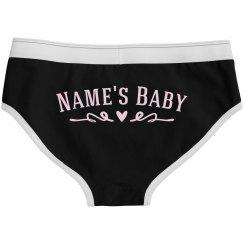 Name's Baby Cute Heart Panties