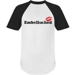 Black Embellushed Red Kiss
